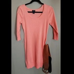 Rue21 Peach Sweater Dress with Belt